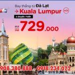 Hãng AirAsia mở đường bay mới Đà Lạt – Kuala Lumpur