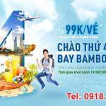 Săn vé máy bay Bamboo Airways từ 99k ngày thứ 4
