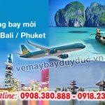 Vietnam Airlines mở hai đường bay mới đi Bali, Phuket
