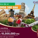 Qatar Airways khuyến mại mùa Đông