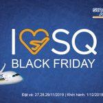 Singapore Airlines ưu đãi Black Friday