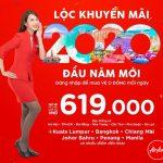 AirAsia khuyến mãi đầu năm mới 2020