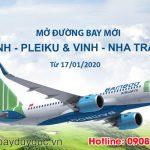 Bamboo Airways mở đường bay mới Vinh – Pleiku và Vinh – Nha Trang