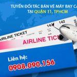 Tuyển đối tác bán vé máy bay cấp 2 tại quận 11, TPHCM