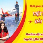 Vietjet Air bay từ Việt Nam tới Đài Loan mấy tiếng?