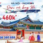 Bamboo Airways bay thẳng Hà Nội – Incheon (Seoul) giá từ 460.000 VND