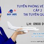 Tuyển phòng vé máy bay cấp 2 tại Tuyên Quang