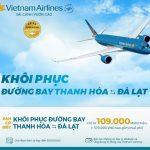 Vietnam Airlines khôi phục đường bay Thanh Hóa – Đà Lạt