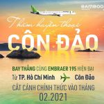 Bamboo Airways mở đường bay thẳng từ TPHCM đến Côn Đảo