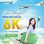 Bamboo Airways bán vé máy bay đồng giá 6K