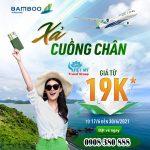 Xả cuồng chân – ưu đãi giá vé từ 9k hãng Bamboo Airways